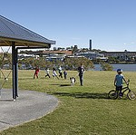 image of children at Bulimba Riverside Park, Bulimba Queensland