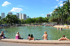 photo of Southbank beach Brisbane